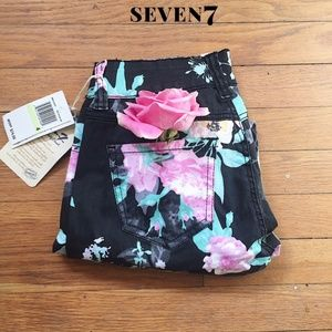 🎉NWT🎉 Seven 7 Floral Skinny Jeans Cropped Sz 4